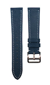 Artisan Straps - Epsom French Calf Leather Strap in Navy