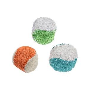 DoggyTopia Loofah Ball Dental Toy - Small