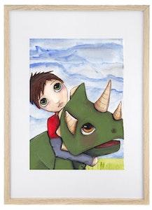 The Dinosaur Wrangler - Art Print