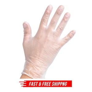 100pcs Clear Vinyl Disposable Examination Gloves Powder Free