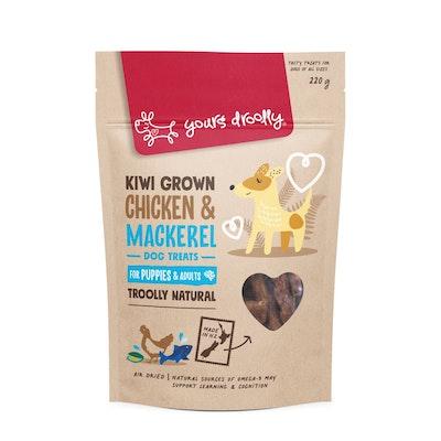 Yours Droolly Kiwi Grown Skin & Coat Chicken & Mackerel Dog Treats