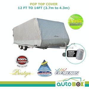 Prestige Pop Top Caravan Cover 3.7m - 4.2m 12ft - 14ft Waterproof Rear Side Door