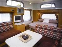 Internal comfort and style is a feature of the Jayco pop-top