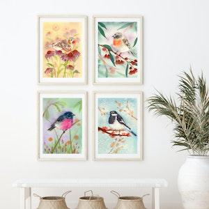 Garden Birds Set - Archival Prints