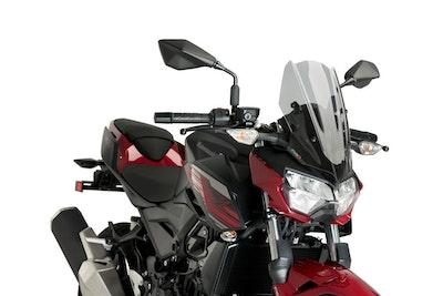 Puig Windshield Naked New Generation Sport To Suit Kawasaki Z400 2019 - Onwards (Smoke)