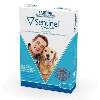 Sentinel Spectrum Tasty Chews Flea & Worming Treatment 22-45kg Dog