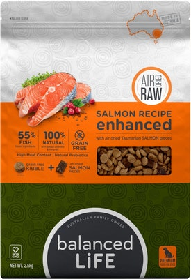 BALANCED LIFE Enhanced Salmon Air Dried Dog Food 2.5kg
