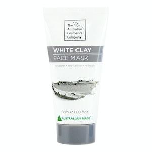 The Australian Cosmetic Company Face Mask White Clay 50ml Beauty Facial Care