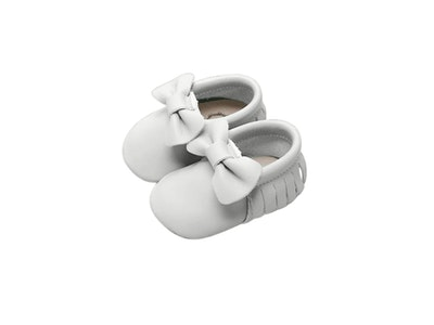 Wildchase Bow Moccasins - White