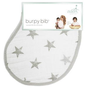 aden dusty stars muslin burpy bib
