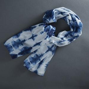 Global Sisters Shop Heartbeat Scarf – Indigo Blue