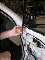 Socket wrench locks Clearview in place