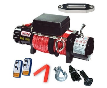 14500LBS Electric Winch Synthetic Rope 6577KG 12V Wireless Remote