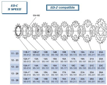 Campagnolo Campag 9Sp 16T Cog Cs-9S 161