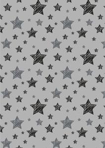 Silly Billyz Grey Star Muslin Swaddle Wrap