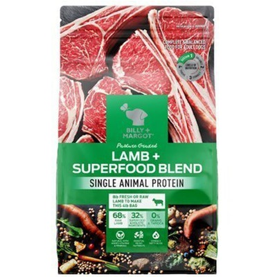 Billy and Margot Billy & Margot Adult Superfood Blend Protein Dog Food Lamb - 2 Sizes