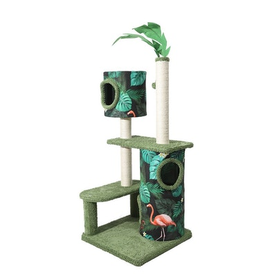 House of Pets Delight The Tropical Cat Tower Condo