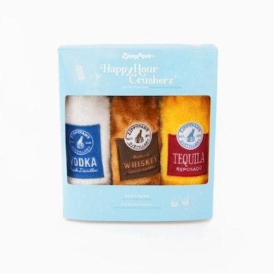 Zippy Paws Happy Hour Crusherz - Spirits Three Pack