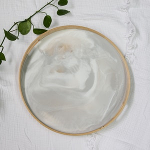 Whitecap Grey Resin Breakfast Tray