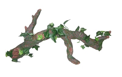 URS Ornament Log w/ Silk Plant Reptile Accessory - 2 Sizes