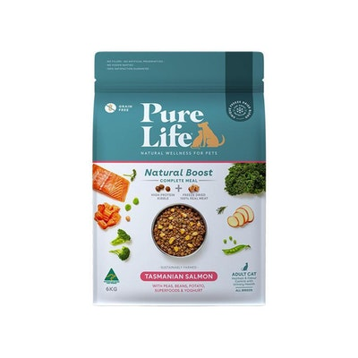 PURE LIFE Natural Boost Salmon Dry Cat Food 6KG