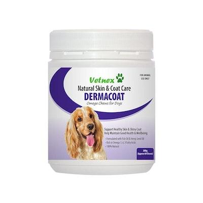 VETNEX Dermacoat Omega Chews For Dogs 300G