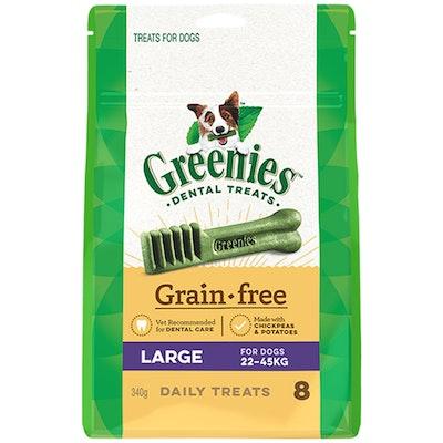 Greenies Grain Free Large Dogs Dental Treats 22-45kg 340g
