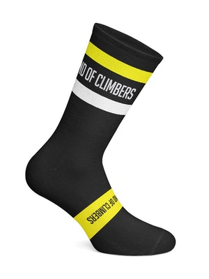 Band of Climbers Vista Socks - Black/Yellow