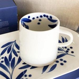 Wattle hand painted mug