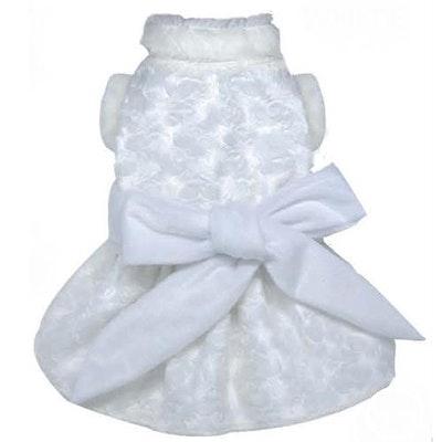 DoggyDolly SMALL DOG - Snowflake Wedding Doggy Dress