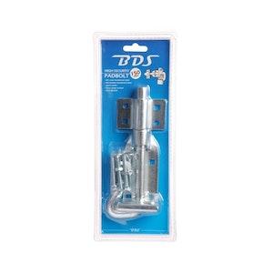 BDS 150mm padbolt high security in zinc plate