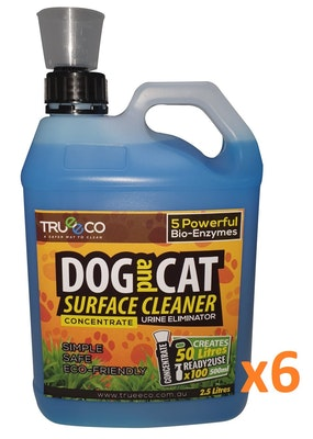 Trueeco Carton of x6 2.5 Liter Concentrate DOG AND CAT SURFACE CLEANER