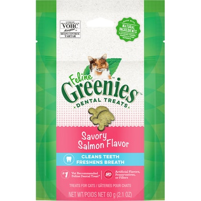 Greenies Savory Salmon Feline Dental Cat Treats 60G
