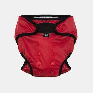 Swim Nappy + Wet Bag - Red