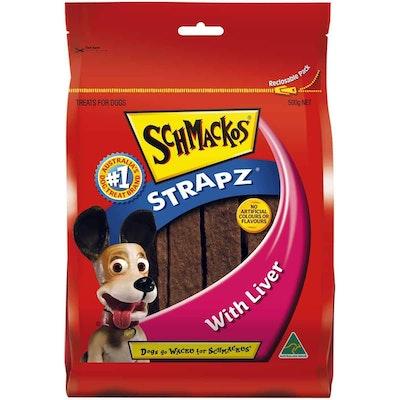 Schmackos Liver Strapz Dog Treats