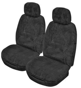 Romney Sheepskin Seat Covers 16Mm Airbag Safe (Pair) | Charcoal