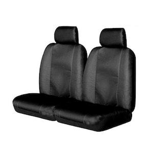 Canvas Seat Covers For Mitsubishi Triton 09/2009-10/2011 Dual-Cab Black