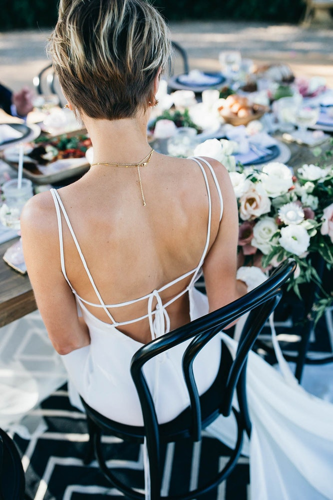 Boho Wedding Table Setting Dress Details LENZO