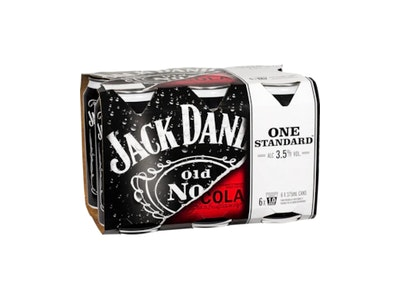 Jack Daniel's & Cola 3.5% 6 Pack 375mL