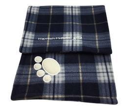 Hamish McBeth Blue Tartan Dog Blanket