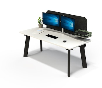 PRE-ORDER - Pose Linear Desk (Fixed Height) - Executive Gold Spec
