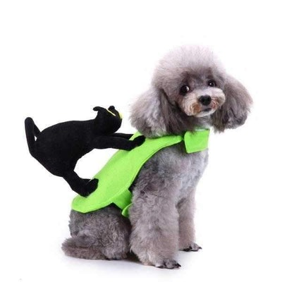 DoggyTopia Scaredy Cat On Dog's Back Costume
