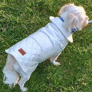 Queenie's Pawprints Warm Weatherproof Dog Puffer Coat - Princess Snow White