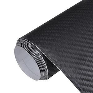 3D Carbon Fiber Car Film - Black