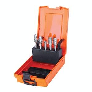 SP Tools Tungsten Carbide Burr Set Steel 5pc