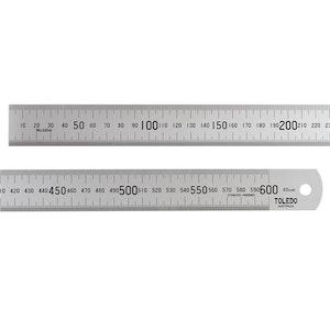 Toledo 600mm Ruler Stainless Steel Single Sided Metric