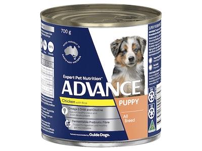 Advance Puppy Plus Growth Chicken & Rice 700G X 12 Cans