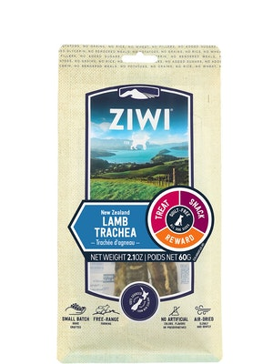 ZiwiPeak Lamb Trachea Chews Dog Treats 60G