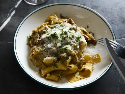 DOC Pappardelle with Italian Funghi Porcini and Truffle oil