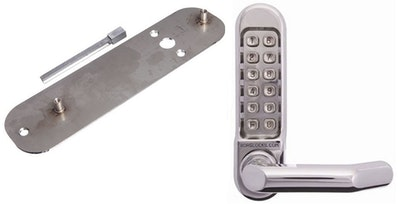 Borg Locks BORG 5000 Marine Grade Stainless Steel digital code pad with adaptor kit to suit a Lockwood 3572 mortice lock or similar